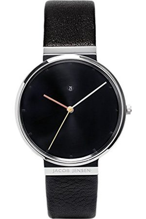 Men Watches - Jacob Jensen Dimension Series Men's Quartz Watch with Dial Analogue Display and Leather Strap 842