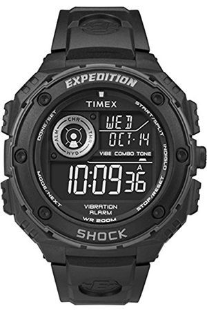 Men Watches - Timex Men's Quartz Watch with Dial Digital Display and Resin Strap T49983