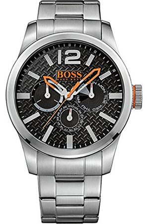 Men Bracelets - HUGO BOSS Paris Men's Quartz multi dial Silver Stainless Steel Bracelet 1513238