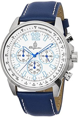 Men Watches - Men's Quartz Watch with Dial Chronograph Display and Leather Bracelet BM608-183