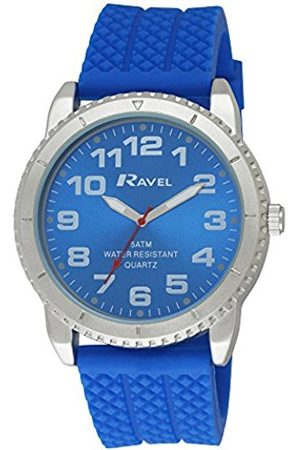 Men Watches - Ravel Men's 5ATM Quartz Watch with Dial Analogue Display and Silicone Strap R5-20.6G