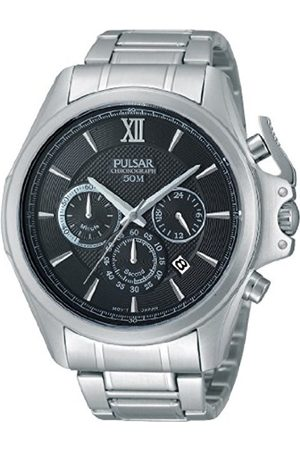 Watches - Pulsar Unisex Analogue Watch with Dial Analogue Display and Stainless steel plated gun metal - PT3437X1
