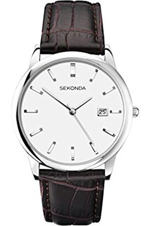 Sekonda Men's Quartz Watch with Dial Analogue Display and Leather Strap 1010.27