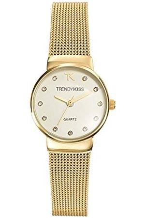 Trendy Kiss Trendy Kiss - TMG10065-07 Women's Quartz Analogue Watch - White Dial- Golden Metal Bracelet