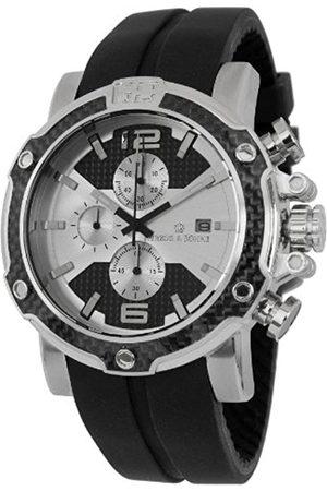 Herzog & Shne Herzog & Söhne Men's Quartz Watch with Dial Chronograph Display and Silicone Strap HS201-112