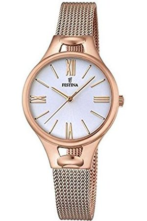 Festina MADEMOISELLE Women's Quartz Watch with Dial Analogue Display and Rose Stainless Steel Rose Plated Bracelet F16952/1