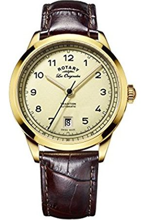 Rotary Men's Automatic Watch with Dial Analogue Display and Leather Strap GS90185/03