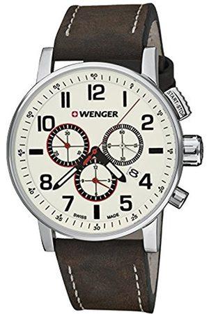 Wenger Unisex Adult Analogue Quartz Watch with Leather Strap 01.0343.103 Attitude Chrono