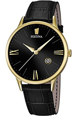 Men Watches - Festina Men's Quartz Watch with Dial Analogue Display and Leather Strap F16825/4