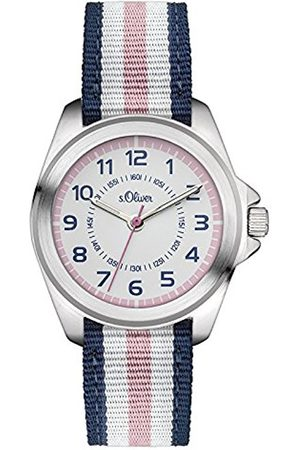 Girls Watches - s.Oliver Girl's Quartz Watch Analogue Display and fabric Strap SO-3133-LQ