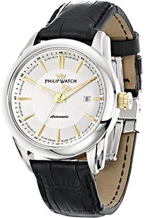 Men Watches - Philip Seahorse Men's Automatic Watch with Dial Time Teacher Display and Leather Strap R8221196001