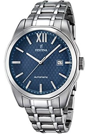 Men Watches - Festina Men's Automatic Watch with Dial Analogue Display and Stainless Steel Bracelet F16884/3