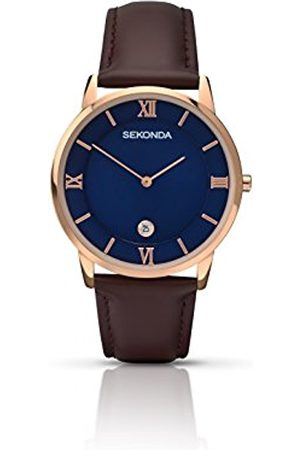 Sekonda Men's Quartz Watch with Dial Analogue Display and Leather Strap 1091.27