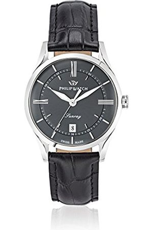 Men Watches - Philip Sunray Men's Quartz Watch with Dial Analogue Display and Leather Strap R8251180007