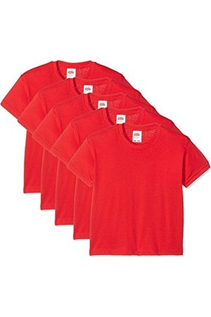 Fruit Of The Loom Unisex Kids Valueweight Short Sleeve T-Shirt Pack of 5