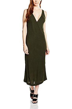 Women Sleeveless Dresses - WHYRED Women's Lowa Wrap Plain Sleeveless Dress
