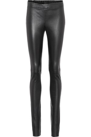 Joseph Mid-rise leather pants