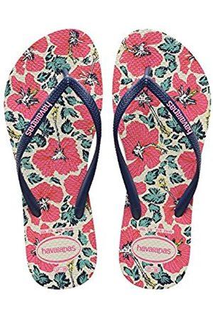 Women Flip Flops - Havaianas Slim Floral, Women's flip flops, Multicolor ( /Navy 0052)