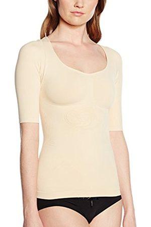 Belly cloud Women's Hemd Halbarm Mit Schnörkellilie Shapewear Top, - (Haut 929)