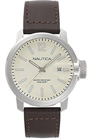 Nautica Mens Analogue Quartz Watch with Leather Strap NAPSYD003