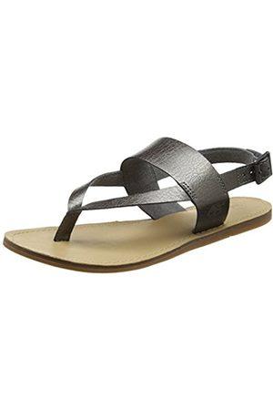 Women Sandals - Timberland Women's Carolista Ankle Thonggunmetal Wedge Heels Sandals