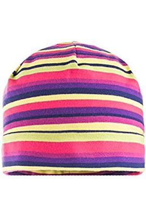 Hats - maximo Baby Girls' Mütze Mit Umschlagrand, Ringeljersey Hat
