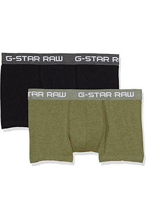 Men Boxer Shorts - G-Star Men's Classic Trunk Htr 2 Pack Short, Multicoloured (Sage Htr/dk 8530)