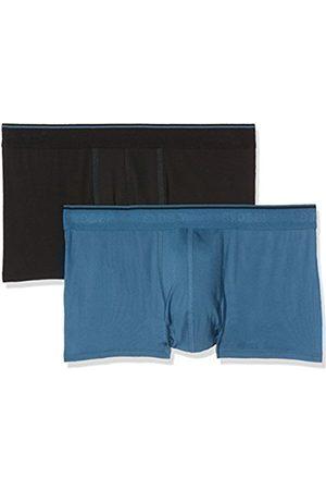 Men Boxer Shorts - Sloggi Men's Men 24/7 Microfibre H Hipster C2p Boxer Shorts, Multicoloured (1xnoir+1xbleu)
