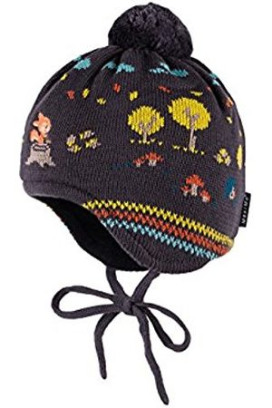 Boys Hats - maximo Boy's 54578-190700 Hat, Multicoloured-Mehrfarbig (Graphit/Baltic 5070)