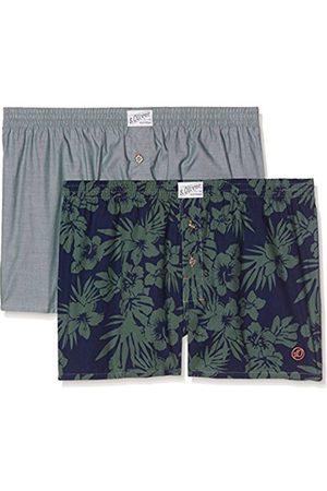 Men Underwear - s.Oliver Men's 17704973000 Sports Underwear, Hibiscus Aop + Palm 11B1