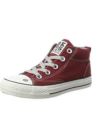 Dockers 38ay603-710720, Unisex Kids' Hi-Top Sneakers, (Dunkelrot 720)