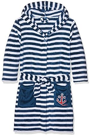 Boys Bathrobes - Playshoes Boy's Fleece Bathrobe Maritime Dressing Gown