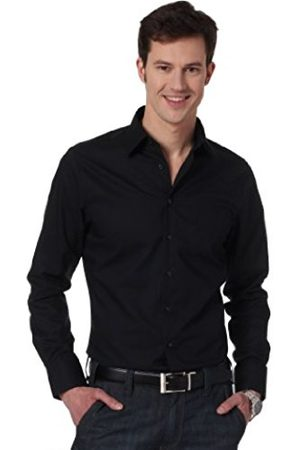 Men Long sleeves - Blacke Rose Men's KENT SR Business Classic Long Sleeve Tailored Business Shirt - - 42