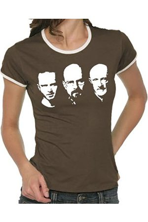 Women T-shirts - Touchlines Girlie Ringer Ladies' Contrast T-Shirt - Walter Jesse Mike Faces Size:M