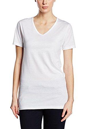Women Short Sleeve - Trigema Women's Damen V-shirt - Slim Fit T-Shirt - white - 22