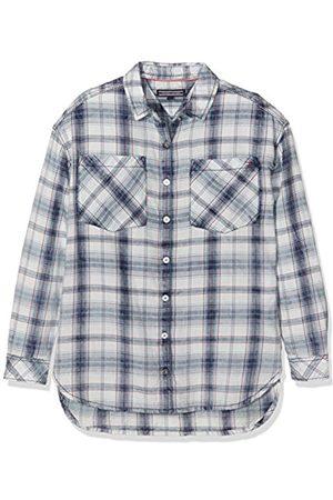 Tommy Hilfiger Girl's New Denim Shirt Long Sleeve Top, (Indigo Heather)
