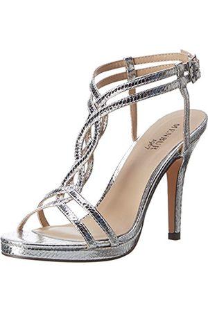 Women Sandals - Menbur Women's Tiflis 1 T-Brace silver Size: 4 UK