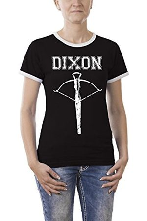 Women T-shirts - Touchlines Women's Dixon Arrow Kontrast T-Shirt, -Schwarz ( 13)