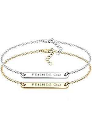 Elli Women's Gold Plated Xilion Cut Friends For Ever Bracelet of Length 17 cm