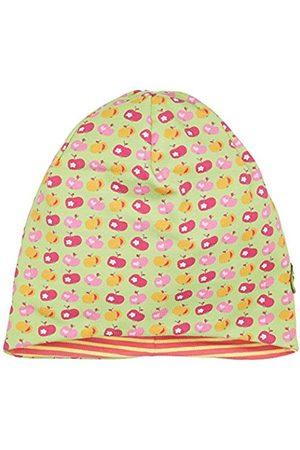 Girls Beanies - maximo Girl's Beanie, Short, Reversible Hat, Mehrfarbig (Mehrfarbig (Hellgrün-Äpfel 2) 2)