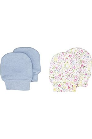 Girls Gloves - Mothercare Girl's Blue and Floral-2 Pack Mittens