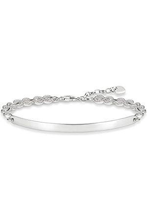 Thomas Sabo Women-Bracelet Love Bridge 925 Sterling Silver Zirconia Length from 15 to 18 cm Bridge 5.4 cm LBA0043-051-14-L18v