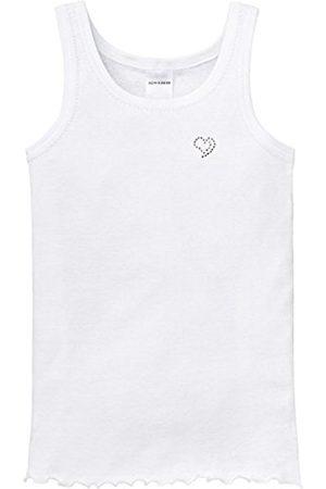 Girls Vests & T-shirts - Schiesser Girl's Plain Sleeveless Vest (100 ) 11 years (Brand size : 8-9Y)
