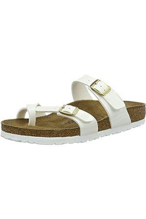 Women Flip Flops - Birkenstock Women's Mayari Birko-flor 0 white Size: 6 UK