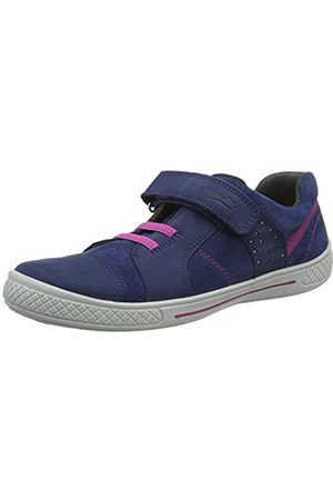 Girls Trainers - Superfit Girls' Tensy Low-Top Sneakers Blue Size: UK 1.5