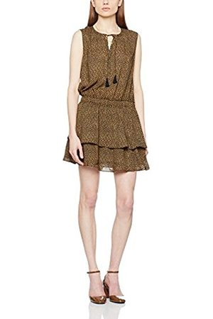 Women Casual Dresses - Maison Scotch Women's Silky Feel Sleeveless Printed Summer Dress with Double Layer Casual Clothes