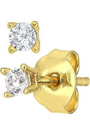 Earrings - 9 ct Gold Stud Earrings with 2.5 mm Cz Stone