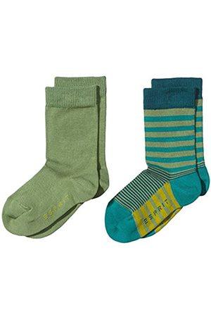 Boys Socks - Esprit Boy's Triple Stripe Doppelpack Striped Calf Socks