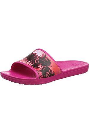 Women Slippers - Crocs Women's Sloanegrphsld Open Back Slippers