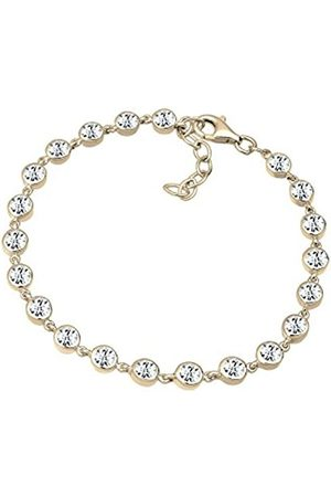 Elli PREMIUM Swarovski Crystals Sterling Silver Plated Bracelet - 18cm length